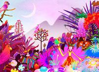 秋の風景と女性 02432000179| 写真素材・ストックフォト・画像・イラスト素材|アマナイメージズ