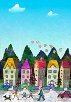 家と森 02432000207| 写真素材・ストックフォト・画像・イラスト素材|アマナイメージズ