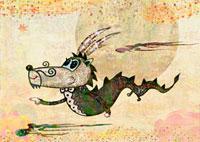 ドラゴン 横向き
