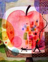 リンゴと人と犬 02432000339| 写真素材・ストックフォト・画像・イラスト素材|アマナイメージズ