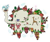 ゾウの形の街