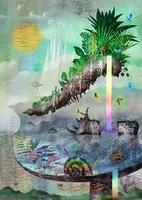 テーブルと虹の滝とサイの岩