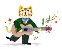 ギターを演奏するネコ