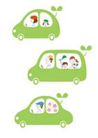 車に乗った人々 エコカーイメージ 02438000003| 写真素材・ストックフォト・画像・イラスト素材|アマナイメージズ