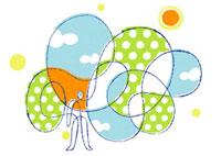 太陽の下に立つ男性のイメージ 02438000015| 写真素材・ストックフォト・画像・イラスト素材|アマナイメージズ