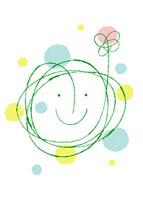 笑顔と花のイメージ