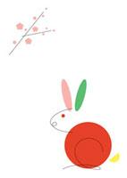 うさぎと梅の木