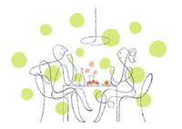ダイニングでシャンパンを飲むカップル 02438000037| 写真素材・ストックフォト・画像・イラスト素材|アマナイメージズ