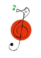 音符とタツノオトシゴ