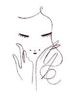 両手を頬に添える女性  02438000076| 写真素材・ストックフォト・画像・イラスト素材|アマナイメージズ
