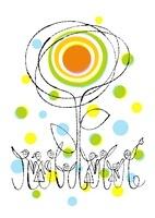 花の太陽と人々