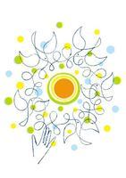 太陽と鳥と手のひら  02438000139| 写真素材・ストックフォト・画像・イラスト素材|アマナイメージズ