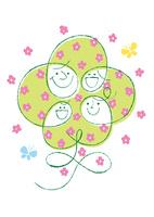 家族と花とチョウチョ