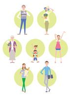 三世帯家族の日常 02438000224| 写真素材・ストックフォト・画像・イラスト素材|アマナイメージズ