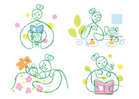 お母さんと子供の色々な日常 02438000246| 写真素材・ストックフォト・画像・イラスト素材|アマナイメージズ