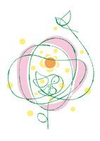 大きな花の中の鳥の家族と太陽 02438000268| 写真素材・ストックフォト・画像・イラスト素材|アマナイメージズ