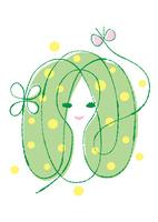グリーンのナチュラルな女性のイメージ 02438000269| 写真素材・ストックフォト・画像・イラスト素材|アマナイメージズ
