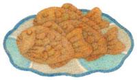 皿の上の鯛焼き