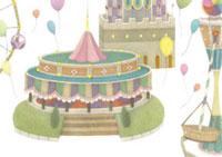 遊園地と風船