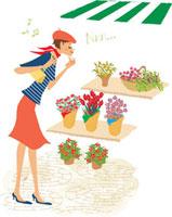 お買い物(お花を見る)