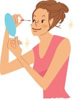 マスカラをする女性 02459000031| 写真素材・ストックフォト・画像・イラスト素材|アマナイメージズ