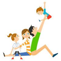 家族団欒 02460000002| 写真素材・ストックフォト・画像・イラスト素材|アマナイメージズ