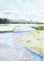 山と川のある風景 02461000014| 写真素材・ストックフォト・画像・イラスト素材|アマナイメージズ