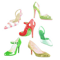 カラフルな靴