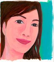 こちらを向いて微笑む女性 02462000008| 写真素材・ストックフォト・画像・イラスト素材|アマナイメージズ