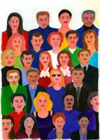 たくさんの人の顔 02462000010| 写真素材・ストックフォト・画像・イラスト素材|アマナイメージズ