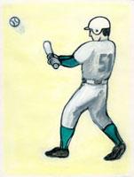 打った瞬間の野球選手 02462000020| 写真素材・ストックフォト・画像・イラスト素材|アマナイメージズ