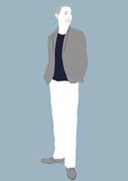 笑っている立ち姿の男性 02463000020| 写真素材・ストックフォト・画像・イラスト素材|アマナイメージズ