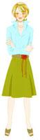 腕を組んで立っている女性 02463000049| 写真素材・ストックフォト・画像・イラスト素材|アマナイメージズ