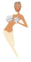 胸に花をつけている女性 02463000095| 写真素材・ストックフォト・画像・イラスト素材|アマナイメージズ