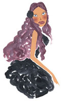 黒いドレスの女性 02463000103| 写真素材・ストックフォト・画像・イラスト素材|アマナイメージズ