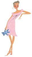 クマのぬいぐるみを持った女性 02463000106| 写真素材・ストックフォト・画像・イラスト素材|アマナイメージズ
