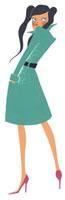 後ろを振り向く女性 02463000107| 写真素材・ストックフォト・画像・イラスト素材|アマナイメージズ