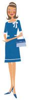 青いワンピースを着た女性 02463000112| 写真素材・ストックフォト・画像・イラスト素材|アマナイメージズ