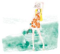 女性と水のイメージ