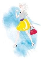 歩いている女性 02463000129| 写真素材・ストックフォト・画像・イラスト素材|アマナイメージズ