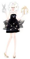 ドレスを着てプレゼントを持っている女性 02463000133| 写真素材・ストックフォト・画像・イラスト素材|アマナイメージズ