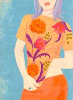女性の口から下のイラスト 02463000142| 写真素材・ストックフォト・画像・イラスト素材|アマナイメージズ