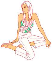 横座りしている女性 02463000144| 写真素材・ストックフォト・画像・イラスト素材|アマナイメージズ