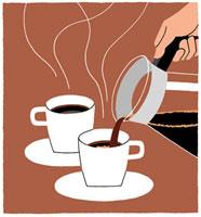 カップに注がれているコーヒー