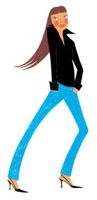 ポケットに手を入れて立つ女性 02463000190| 写真素材・ストックフォト・画像・イラスト素材|アマナイメージズ