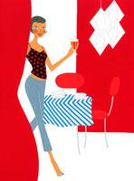 ホームパーティをしている女性 02463000193| 写真素材・ストックフォト・画像・イラスト素材|アマナイメージズ