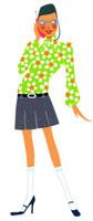 電話をしている女性 02463000194| 写真素材・ストックフォト・画像・イラスト素材|アマナイメージズ