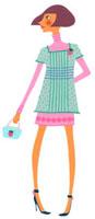 イチゴのバッグを持った女性 02463000203| 写真素材・ストックフォト・画像・イラスト素材|アマナイメージズ