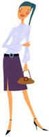 ハンドバッグを持っている女性 02463000207| 写真素材・ストックフォト・画像・イラスト素材|アマナイメージズ