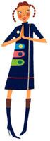 胸の前で手を合わせている女性 02463000210| 写真素材・ストックフォト・画像・イラスト素材|アマナイメージズ